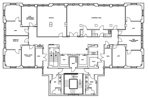 ceo office floor plan floorplan six city center executive offices