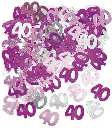 dekor konfetti 40 geburtstag deko konfetti pink
