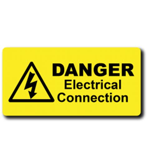 what electrical connection is made by the safety wire engraved traffolyte electrical safety labels traffolyte