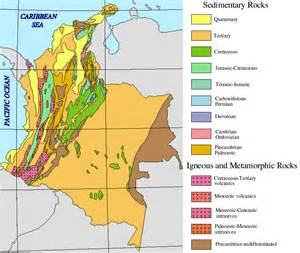 geological map of south america geology galeras colombia s most active volcano