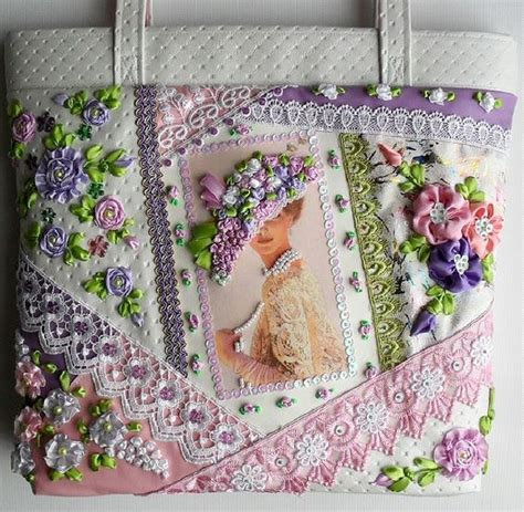 Patchwork Embroidery - quilting ribbon embroidery and on