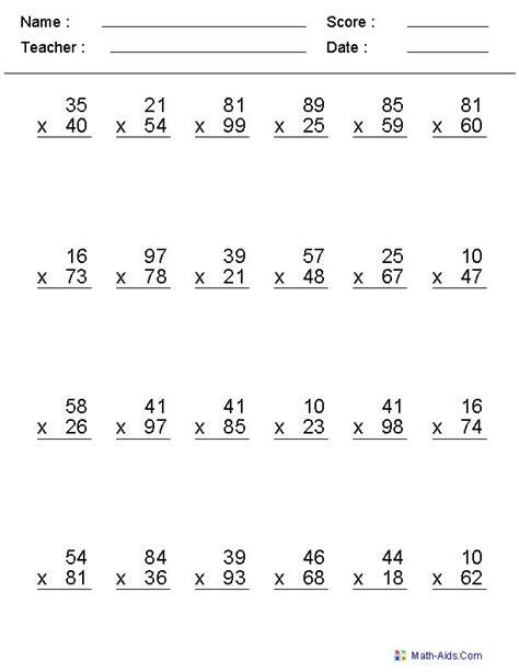 printable worksheets double digit multiplication pinterest the world s catalog of ideas