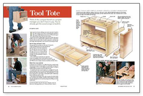 tool tote fine homebuilding