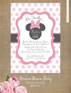 minnie mouse invitations cards
