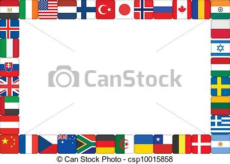 flags of the world border clipart international cliparts