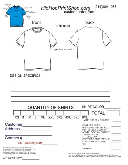T Shirt Order Form Template Choice Image Template Design Ideas Affinity Designer T Shirt Template