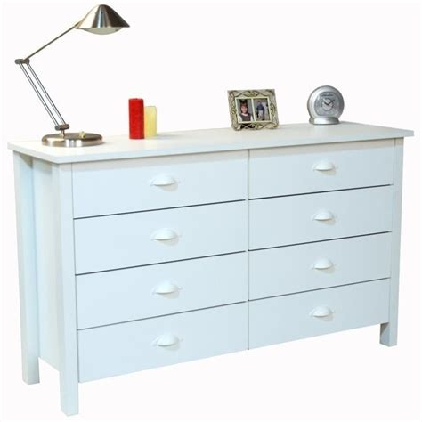 White Lowboy Dresser 8 drawer lowboy dresser in white 3117 11wh