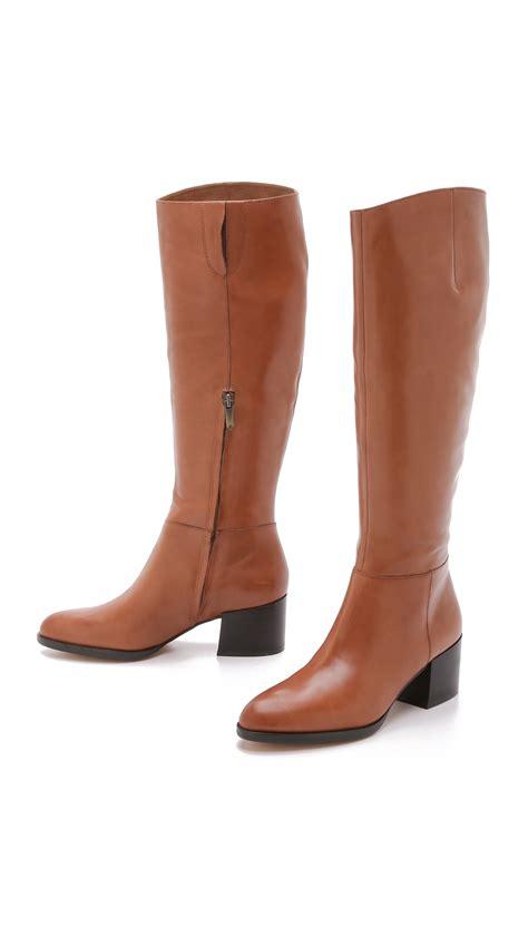 sam edelman joelle boots in brown lyst