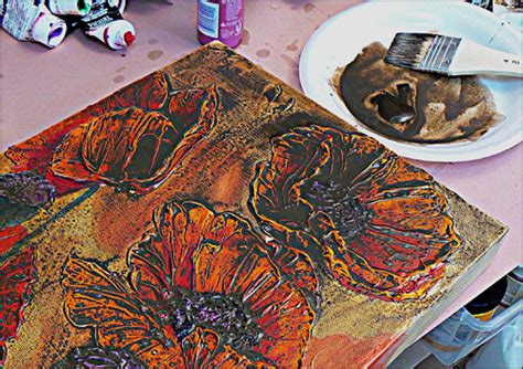 Textured Painting Techniques Canvas - how to add incredibly thick texture to your acrylic paintings