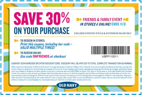 old navy coupons phone old navy 30 off coupon faithful provisions