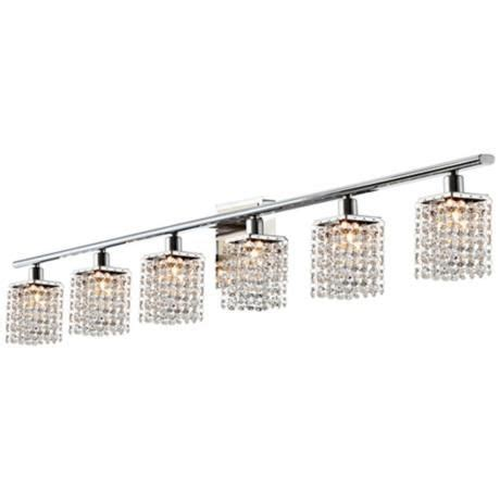 crystal light fixtures bathroom sparkle collection 6 light crystal bathroom fixture