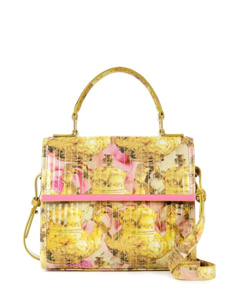 Ted Baker Canvas Printed Tote Bag by Ted Baker Keltty Small Printed Tote Bag In Yellow Lyst