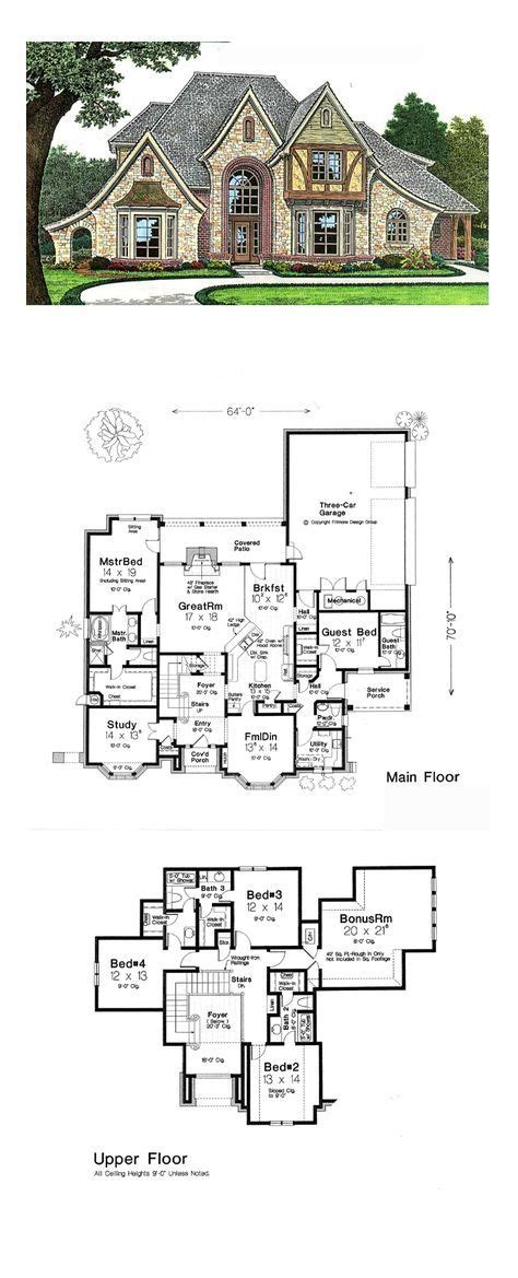 home plan homepw12686 4376 square foot 4 bedroom 4 4125 best images about house plan on pinterest