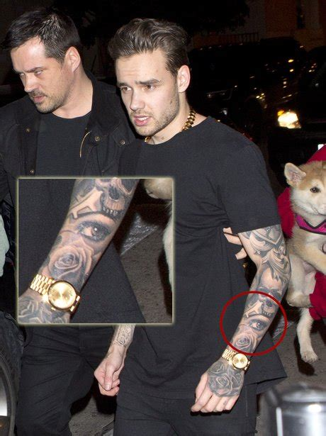 liam payne shows off tattoo of pregnant girlfriend cheryl liam payne shows off new inking of cheryl s eye on his