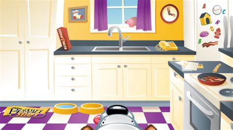 kitchen cartoon 8fish illustration