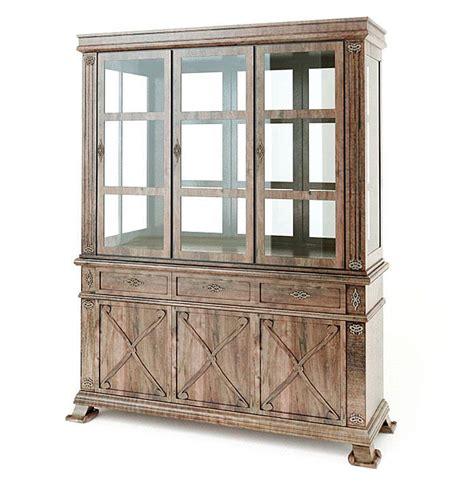 furniture antique wood curio cabinet 3d model cgtrader