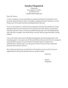 cover letter for personal care assistant leading professional personal assistant cover letter