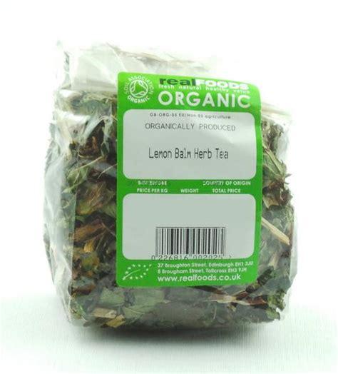 White Tea Herbal 25gr organic lemon balm herb tea from real foods buy bulk