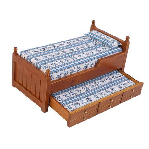 dollhouse bed high quality 1 12 scale dollhouse furniture miniature