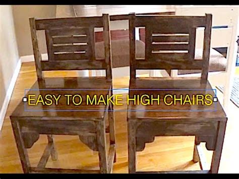 how to make high chairs kitchen table chairs rustic