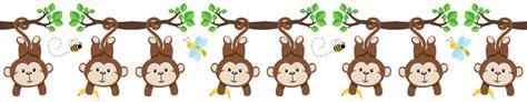 Wall Sticker For Nursery monkey wall border decamp studios