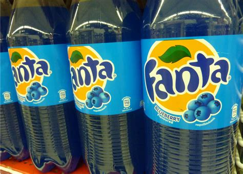 Mikel Fanta blueberry fanta and est cola soft drinks in thailand