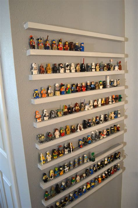 figure display shelves jedi craft diy lego minifigure storage shelves tutorial