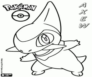 axew pokemon coloring pages images pokemon images