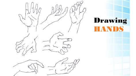 how to draw hands 35 tutorials how tos step by steps how to draw hands tutorial youtube