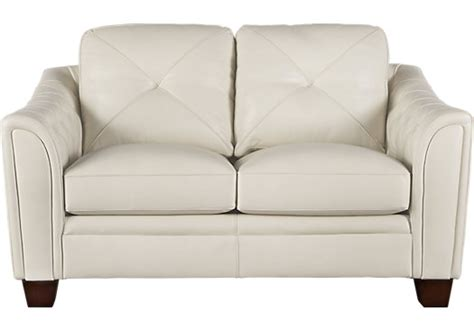 cindy crawford loveseat cindy crawford home marcella ivory leather loveseat