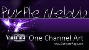 purple nebula youtube channel art template photoshop psd