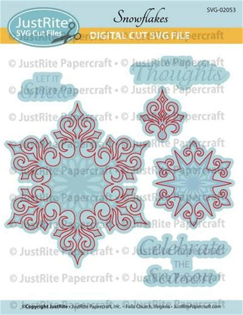 Justrite Papercraft - svg snowflakes digital cut file for cl 02053