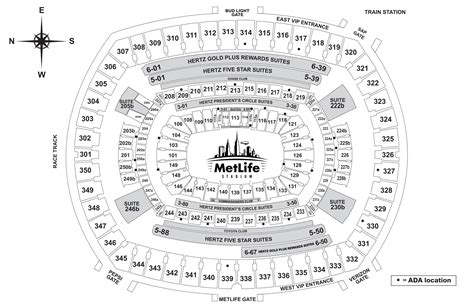 metlife stadium seating chart jets guests with disabilities