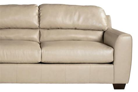 Rimini Taupe Durablend Leather Sofa At Gardner White Durablend Leather Sofa