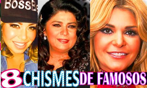 chismes de famosos de 2016 8 chismes de famosos noticias breves imperdibles youtube