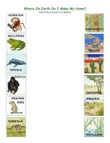 animal habitat worksheets for kindergarten 18 free esl