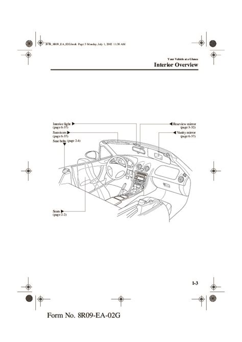 car repair manual download 2003 mazda mx 5 spare parts catalogs 2003 mazda mx 5 miata owners manual