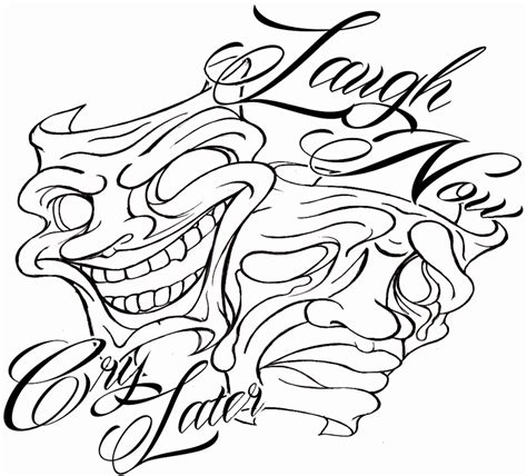 Smile Now Cry Later Coloring Pages laugh now cry later coloring pages