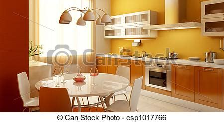 modern kitchen interior 3d rendering stock illustration of modern kitchen interior 3d rendering