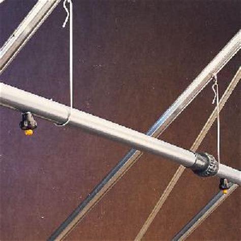 overhead spray kit  ft wide greenhouses  watering