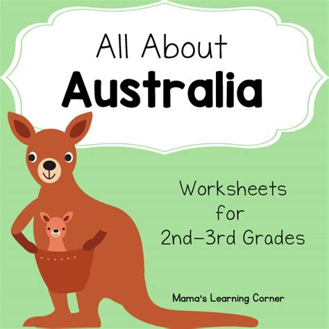 australia worksheets mamas learning corner