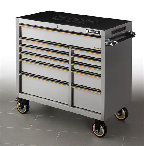 stainless steel tool cabinet craftsman pro series 41 inch 11 stainless steel