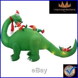 lighted dinosaur christmas decoration dinosaur and elves 12 ft home decor lighted play decor