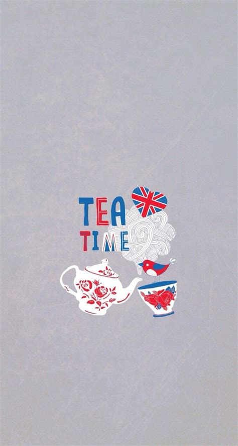 tea time britain iphone wallpaper cute