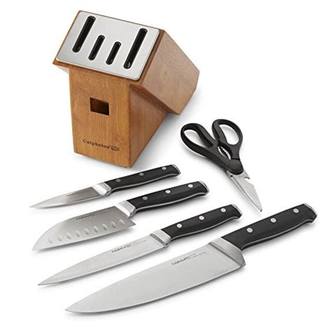 buy calphalon 174 classic self sharpening 6 cutlery calphalon classic self sharpening 6 knife block set with sharpin technology 1924554 in