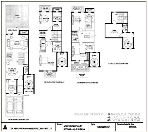 dlf new town heights floor plan dlf new town heights
