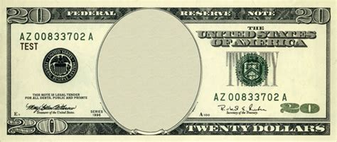 blank dollar bill template on 20s should a replace jackson on the 20