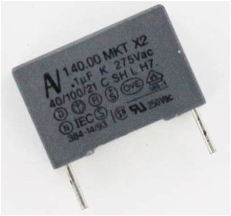 capacitor mkt code 0 1uf 275vac metallized polyester suppression capacitor arcotronics r40 ki 3100 2000 01 k west