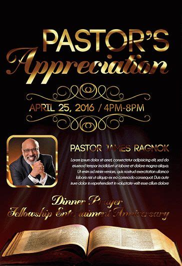Pastors Church Free Flyer Psd Template By Elegantflyer Pastor Anniversary Flyer Free Template