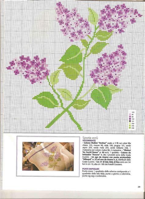 schemi di fiori a punto croce grappoli profumati di fiori lill 224 schemi punto croce 2